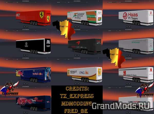 Trailer Pack Aero Dynamic F1 [ETS2]
