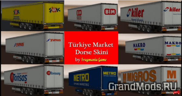 Turkey Markets Trailer Skin