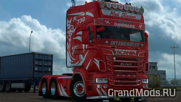 Red Illusion skin for Scania RJL