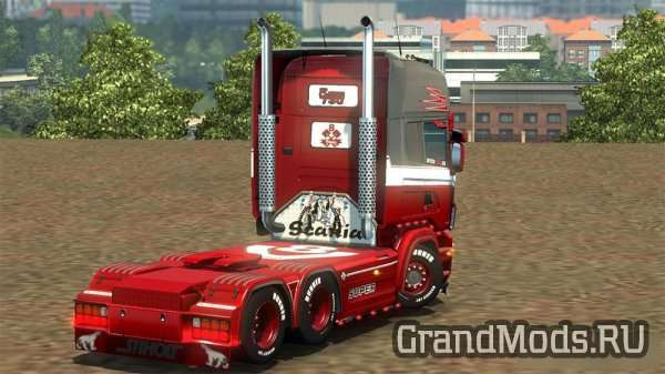 Red Liner Skin for Scania RJL [ETS2]