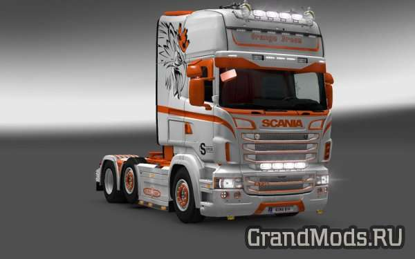 SCANIA RJL ORANGE DREAM SKIN [ETS2]