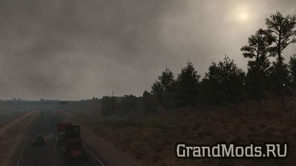 Grey Skies Weather Mod v1.0 [ATS]