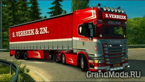 Scania R440 Streamline S.Verbeek & Verbeek Trailer  [ETS2]