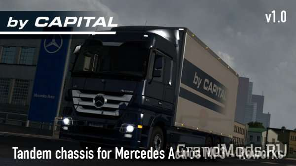 Tandem chassis addon for Mercedes Actros MP3 Reworks [ETS2]
