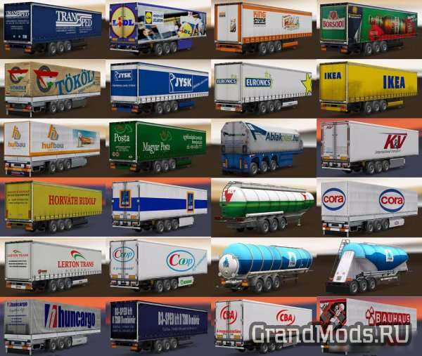 Hungarian Trailers Pack [ETS2]