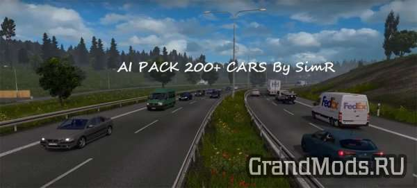 AI TRAFFIC CAR 200+ By SimR [ETS2]