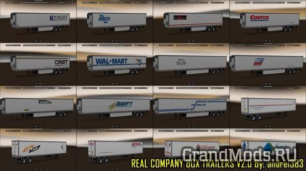 Real Company Box Trailers v 2.0 [ATS]