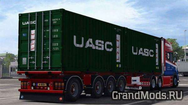 Krone Container 4 Axe Trailer v 1.0 [ETS2]