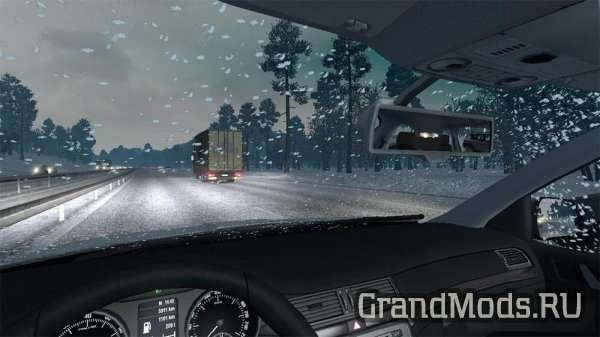 Real Snowfall Mod for Winter mods [ETS2]