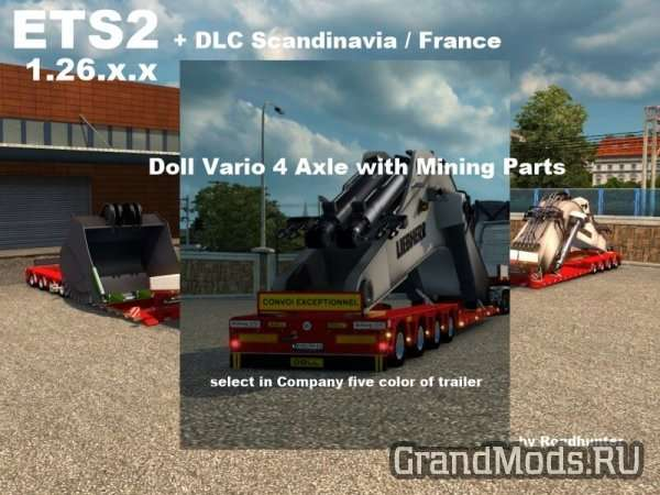 Doll Vario 4Achs with Mining Parts [ETS2]