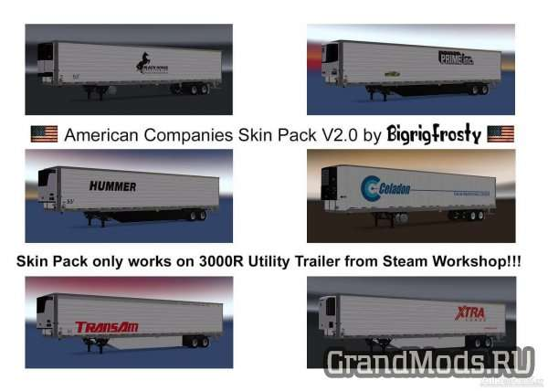 American Companies 3000R Utility Skin Pack v 2.0 [ATS]
