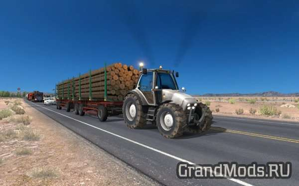 Tractor with trailers in traffic [ATS]