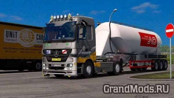 ​Mercedes Actros MP3 Reworked v1.6 [ETS2]