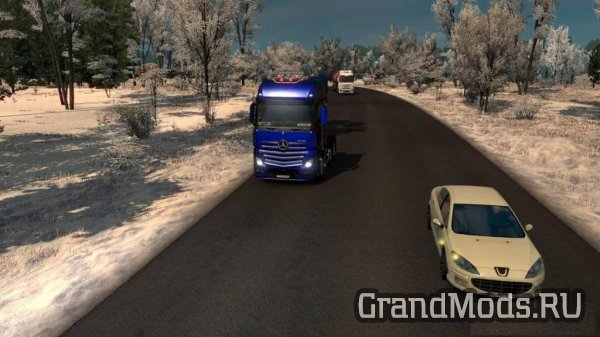 Realistic Winter Mod+Snowfall 1.26+Reshade [ETS2]