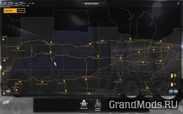 "Карта ""Coast to Coast"" v 2.1 [1.6] [ATS]"