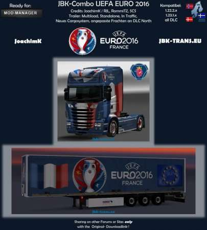 JBK-COMBO UEFA EURO 2016 V1 для ETS2