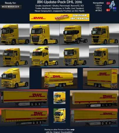 JBK UPDATE PACK DHL 2016 V2 для ETS2