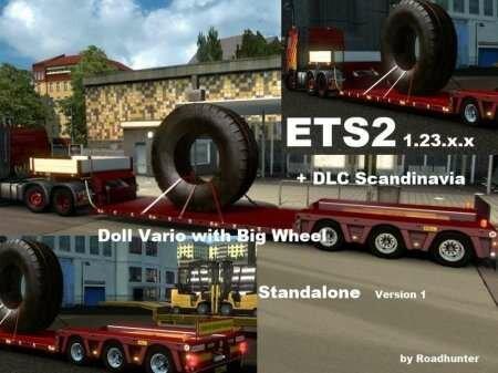 DOLL VARIO WITH BIG WHEEL для ETS2
