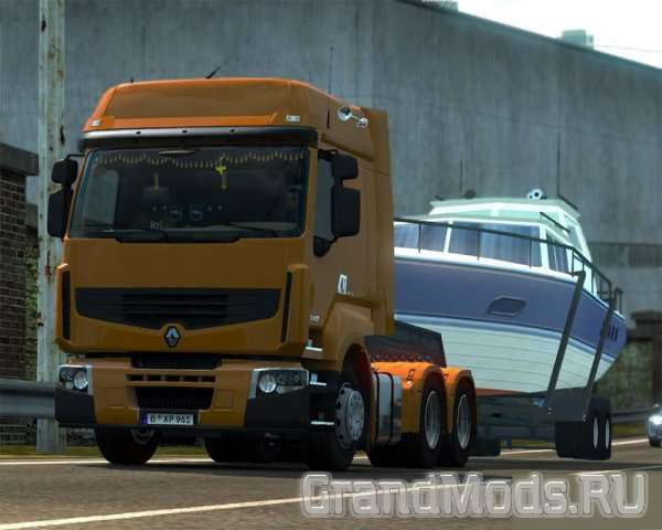 BOAT TRAILER BY EM TEAM для ETS2