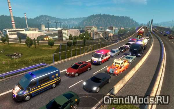 GREAT MOD ON TRAFFIC! ETS2 V1.24