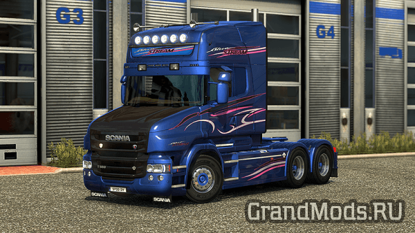 Scania T RJL Blue Stream Skin