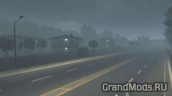 3D Rain and Fog Mod v1.1 (Update) / ATS and ETS2