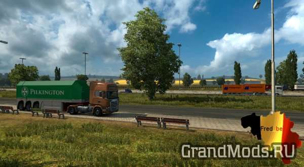 Painted Trailer Traffic by Fred_be [ETS2 1.24]