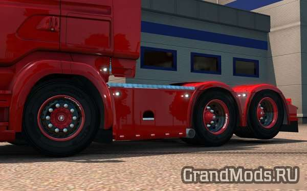 Black & Red Wheel for Scania [ETS2 1.24]
