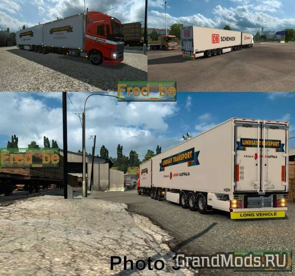 Pack Volvo FH 2012 Tandem (25 meters) [ETS2]