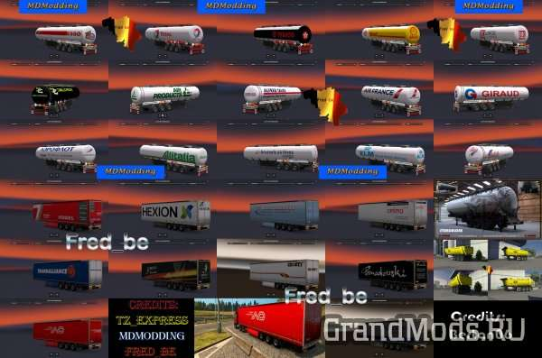 Trailer pack by Fred_be V8 [ETS2]