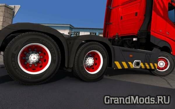 Red & White abasstreppas Wheels [ETS2]