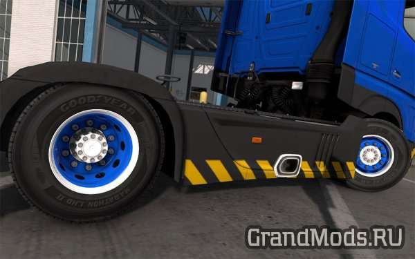 Blue & White Abasstreppas Wheels [ETS2]