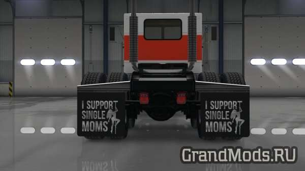 """I Support Single Moms"" Mudflap Pack v 2.1 [ATS]"
