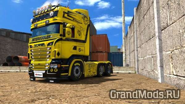 Scania RJL Yellow Queen Skin [ETS2]