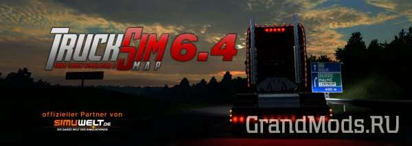 TruckSim Map v 6.4.1 HotFix  [ETS2 1.25]