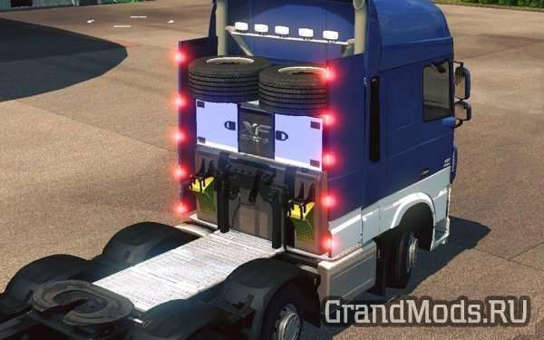 DAF XF EURO 6 8X2 CHASSIS V1.1S [ETS2]