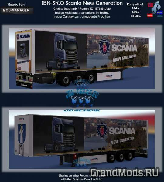 JBK TRAILER SK.O SCANIA NEW GENERATION V1 [ETS2]