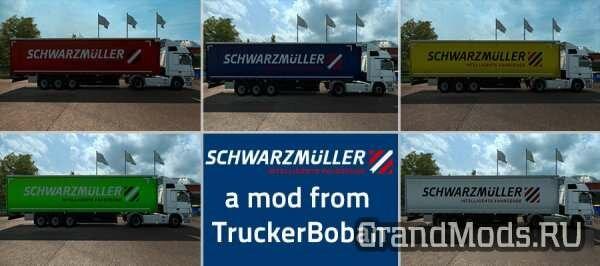 Schwarzmuller Curtain Sider Trailer Skin Pack v 2.0