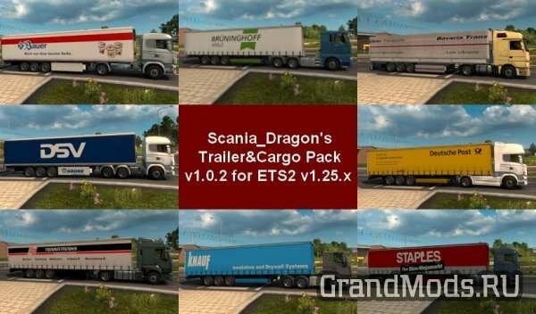 SDMods Trailer & Cargo Pack v 1.0.2 [ETS2]