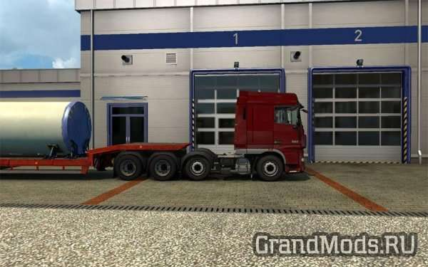 DAF XF 105 8×4 chassis [ETS2]