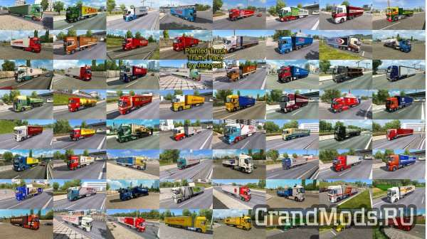PAINTED TRUCK TRAFFIC PACK BY JAZZYCAT V2.5 [ETS2]