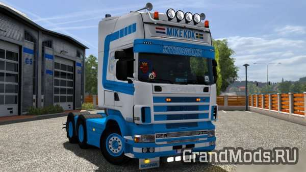 Scania 4 Series Mike Kok Skin [ETS2]