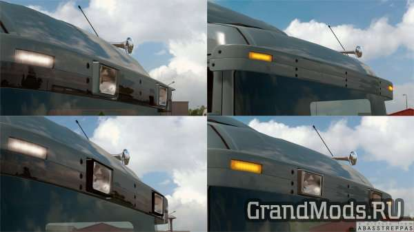 Old type sunshield for Scania RJL 4 / R1 Series  [ETS2]