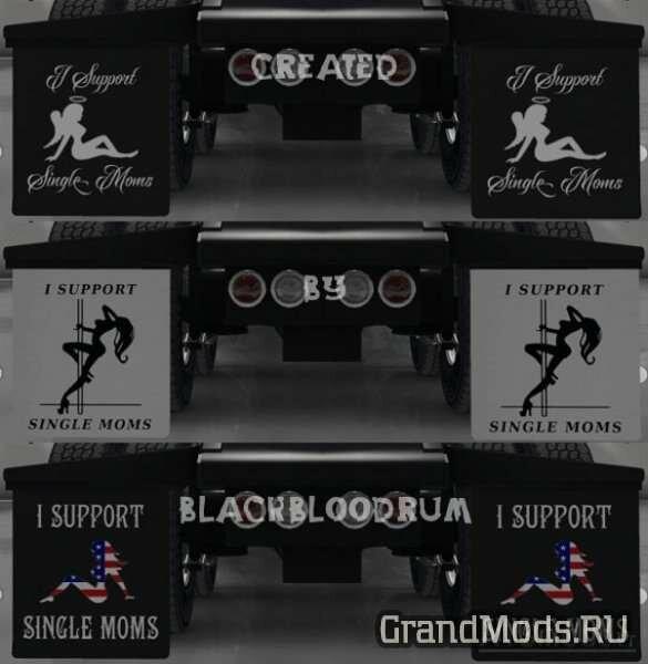 """""""I Support Single Moms"""" Mudflap Pack v 2.1 [ATS]"""