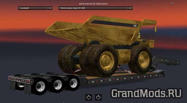 Trailer Lowboy CAT 257M [ETS2]