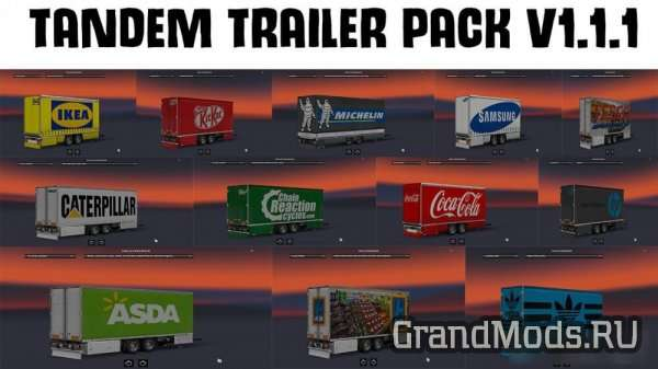 Tandem Trailer Pack v 1.1.1 [ETS2]