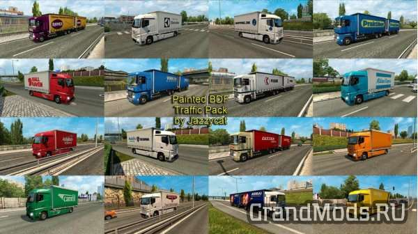Painted BDF Traffic Pack v9.1 для ETS2