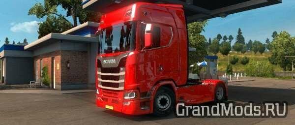 Грузовики Scania в ETS2.