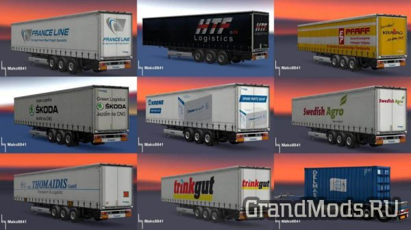 Trailers Pack by Mako8841 [ETS2]