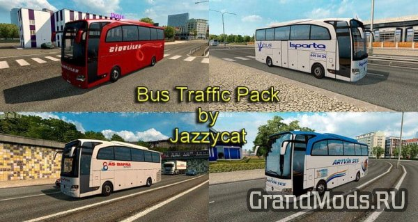 Bus Traffic Pack v6.7 [ETS2]